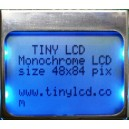 Monocrome Graphic SPI Lcd Display Module without Pcb